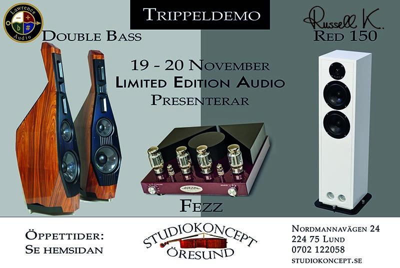 Lawrence Audio: Double Bass, Russell K. Red 150, Fezz rörförstärkare